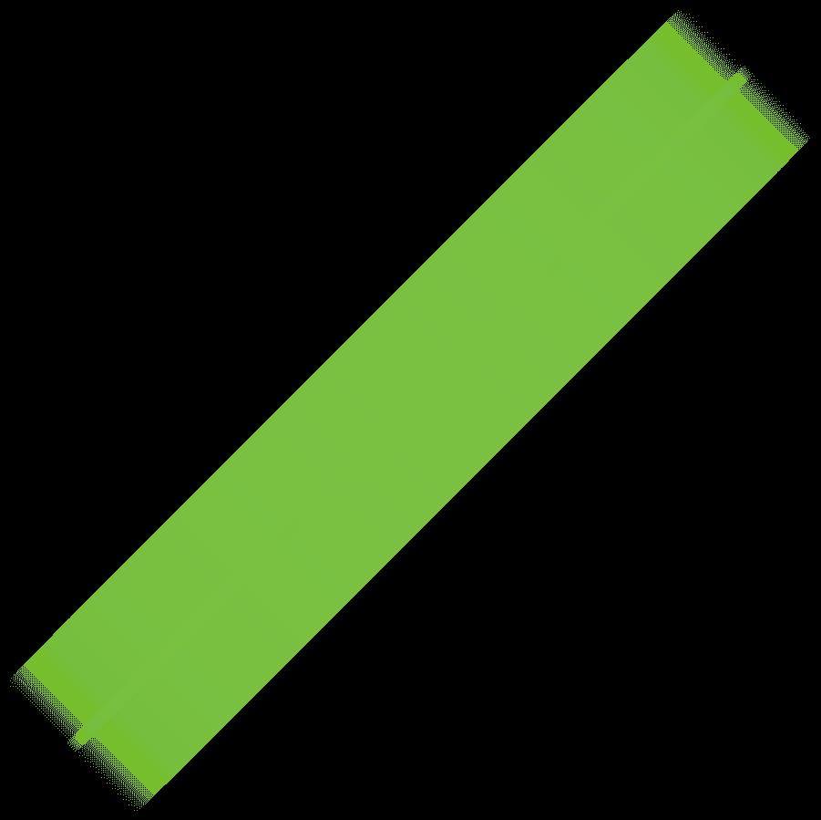 diagonal grøn streg mod venstre